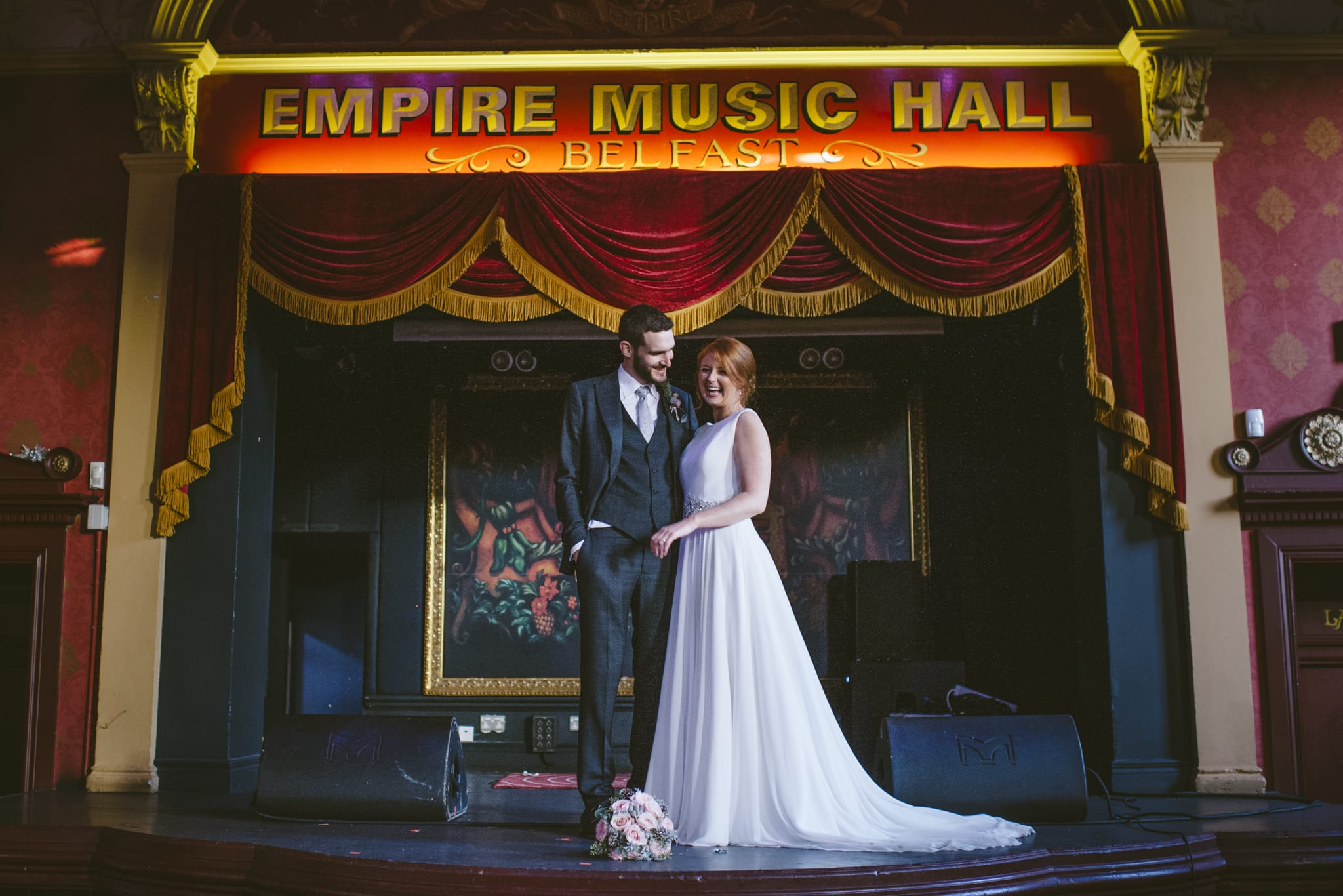 Belfast Empire Music Hall wedding photography