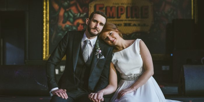 Belfast Empire Music Hall Wedding Photography  - William & Laura