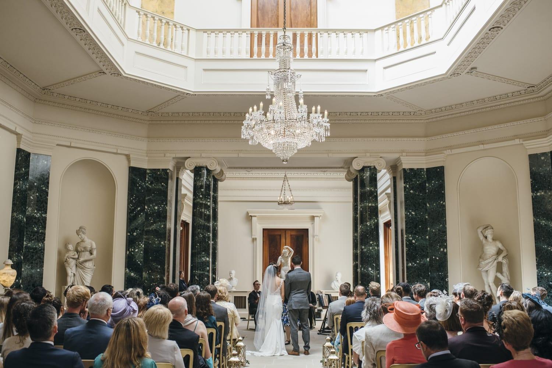 Wedding ceremony at Mount Stewart