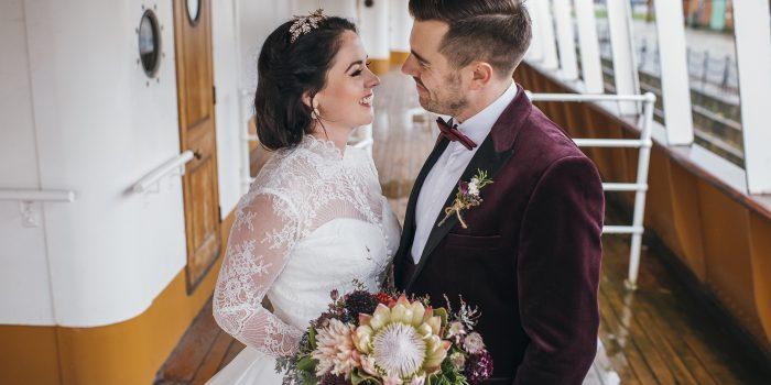 SS Nomadic Belfast Wedding - Chris and Anna