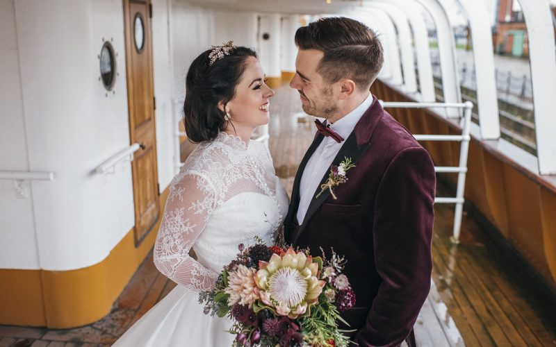 SS Nomadic Belfast Wedding - Chris and Anna