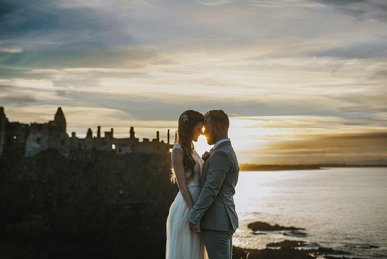 Dunluce Castle wedding photography