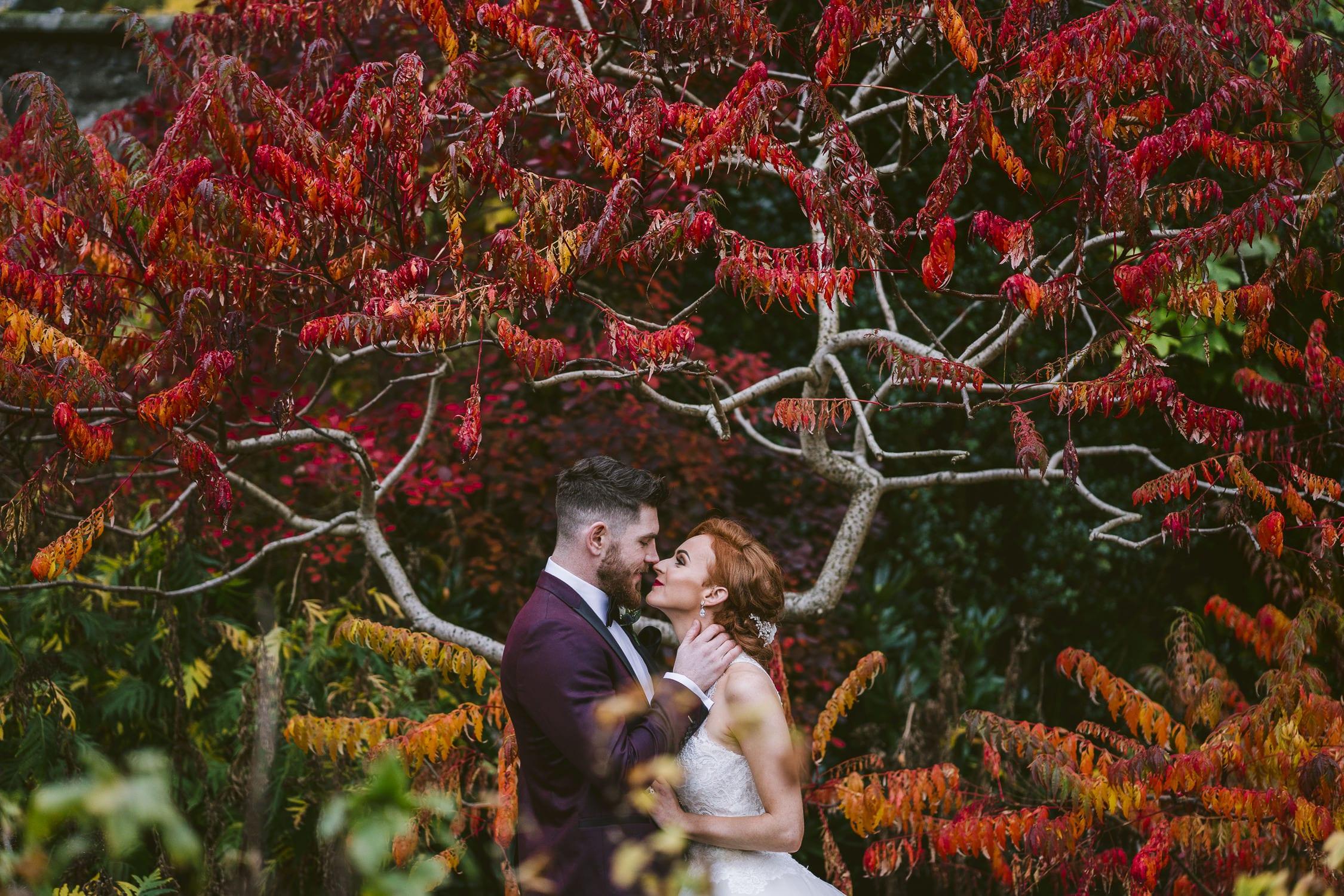 Autumn wedding Larchfield Estate