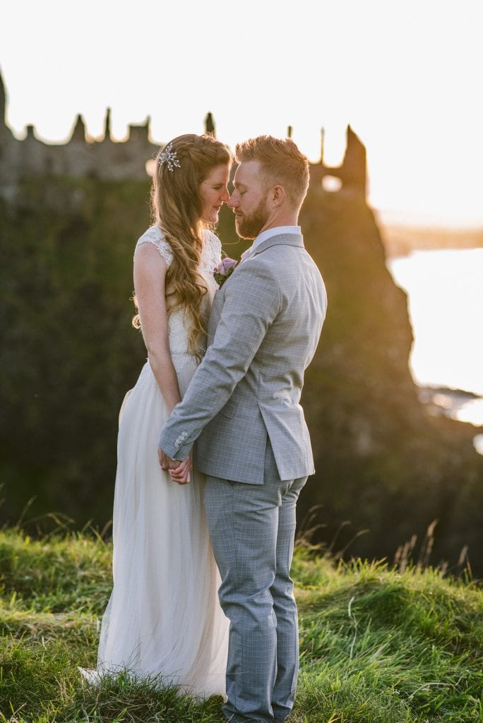 Dunluce Castle elopement wedding