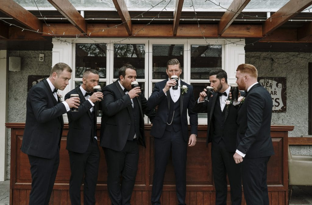 Clonabreany House wedding photography groomsmen