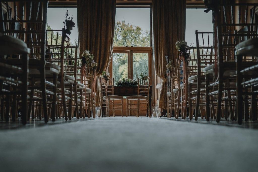 ceremony room inside Castle Leslie