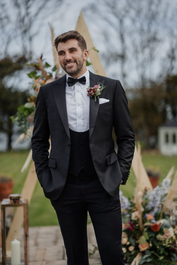 Groom at Hillmount house
