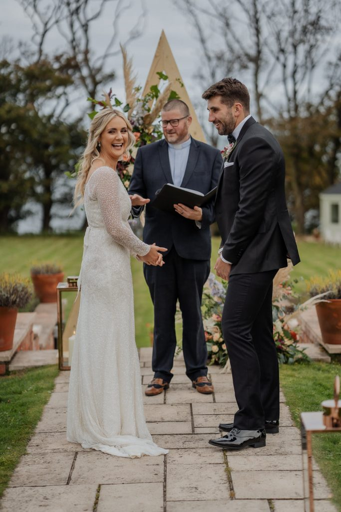 Outdoor ceremony at hillmount house