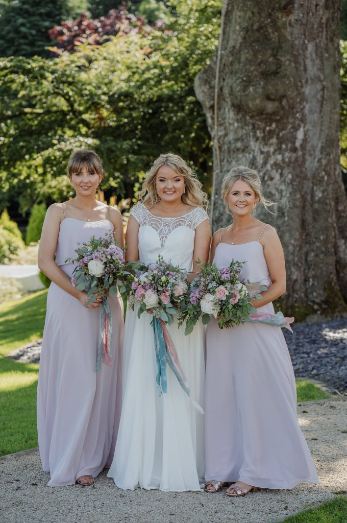 Bride and bridesmaids at Kilmore House
