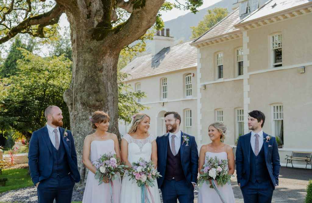 Bridal party at Kilmore House