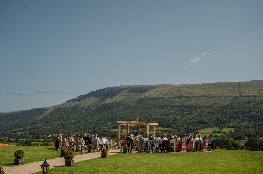 outdoor ceremony at Kilmore Country House
